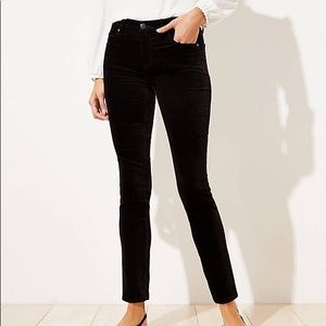 NWT Loft Curvy Skinny Velvet Pants